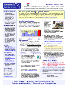 Download Newsletter 3 - Summer 2011